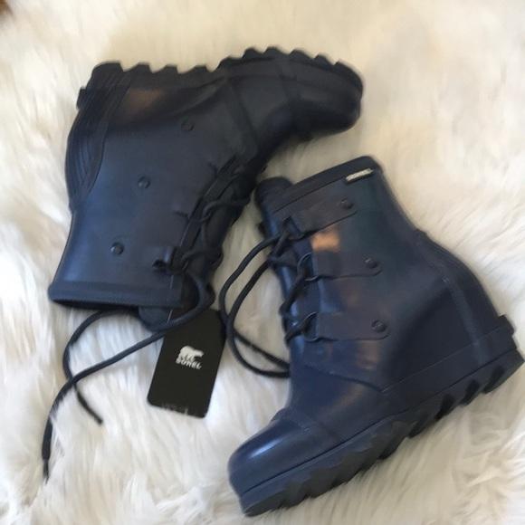 e283944e8b8d Sorel Joan Rain Wedge Boots